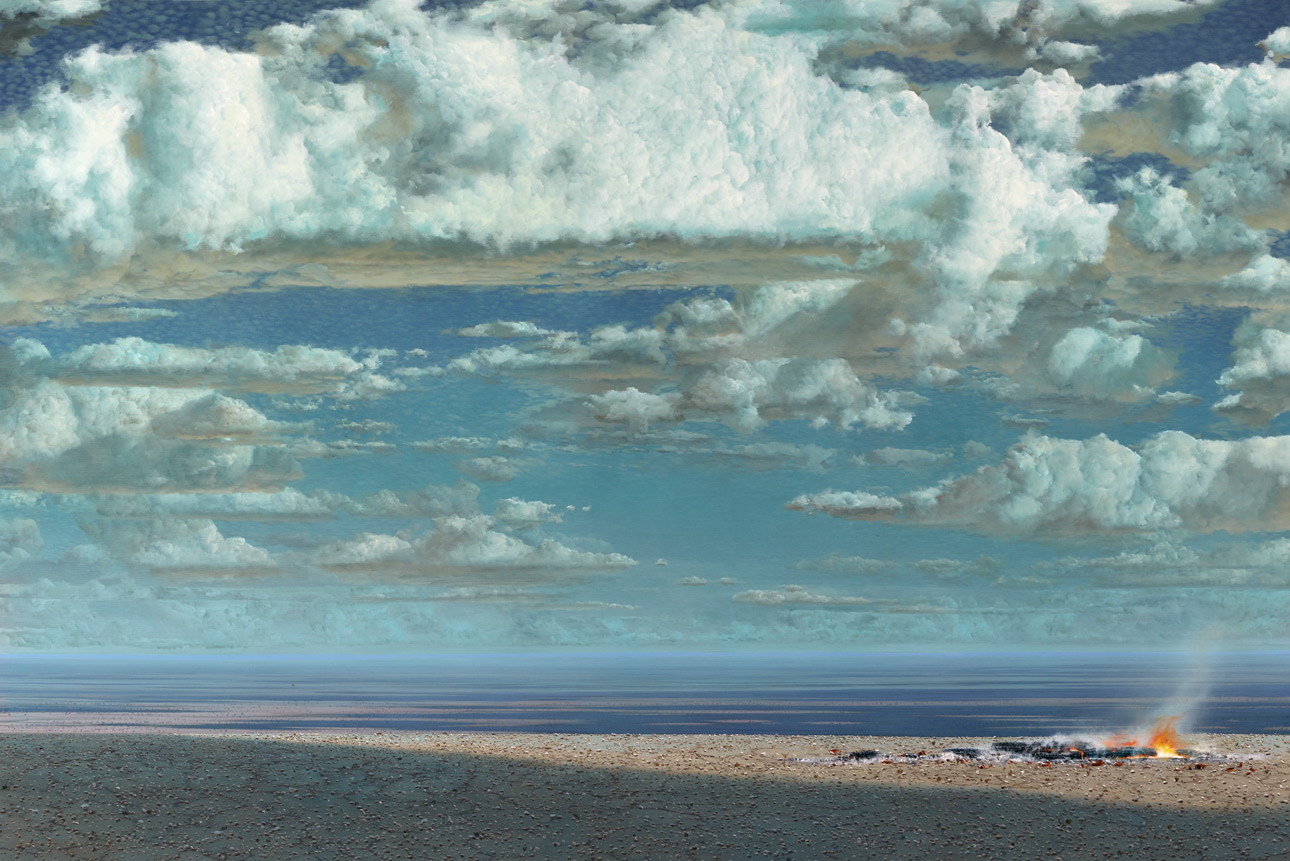 Tim Storrier - A Distance Away - The High Summer (Acrylic on Canvas)