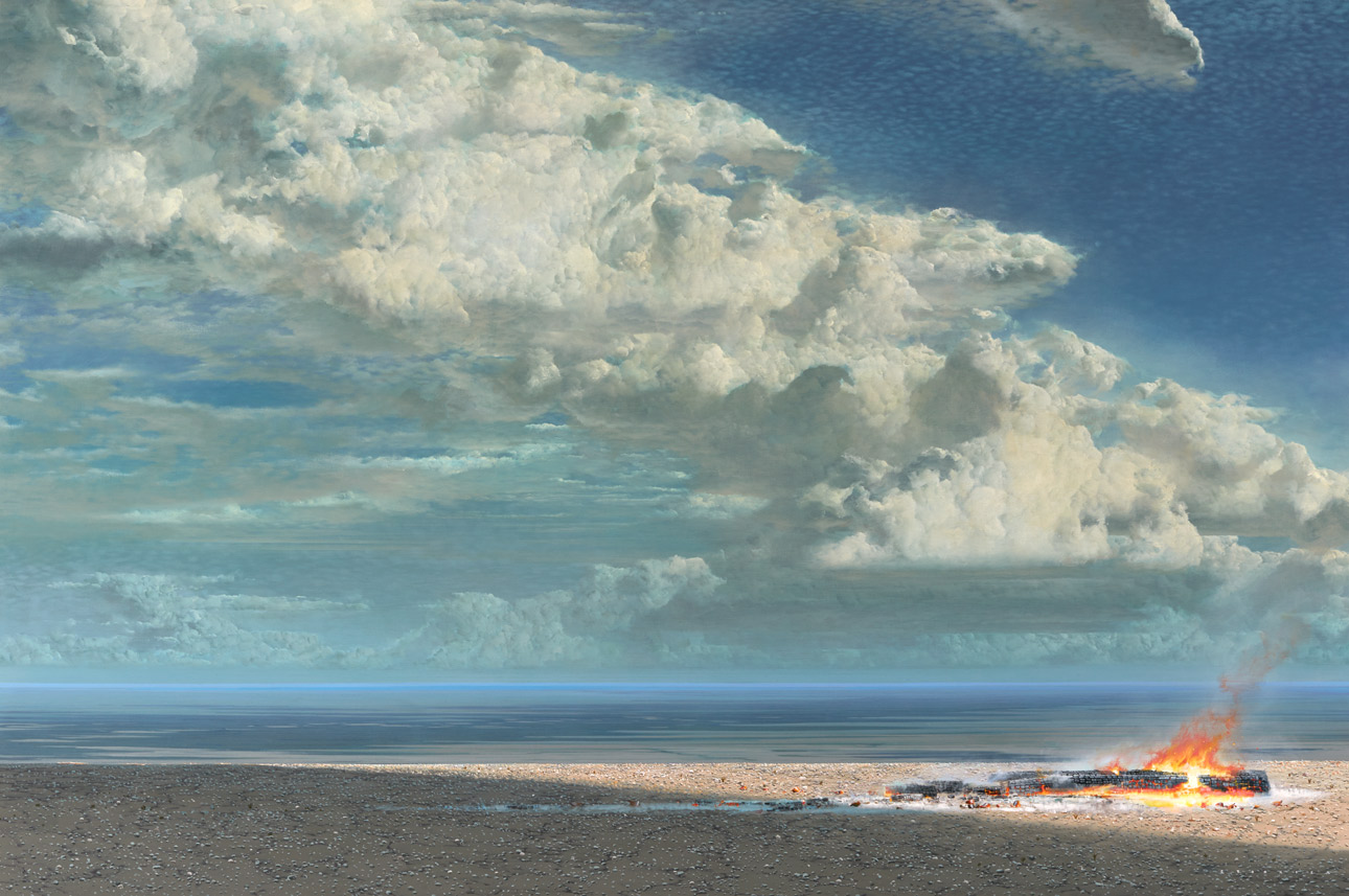 Tim Storrier - A Distance Away - The Northern Approach (Acrylic on Canvas)